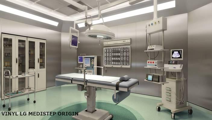 vinyl lantai rumah sakit anti bakteri untuk ruang operasi